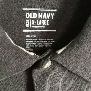 Old Navy Shirts - Old Navy (Sz.XL) Men's Gray Polo